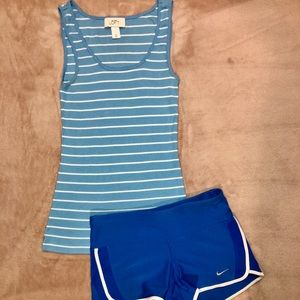 Loft Baby Blue XS Tank Top-and Nike XS  Shorts